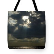 Sun Rays Pierce Through Clouds And Rest Tote Bag