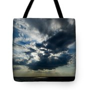 Sun Rays Through Clouds Form A Spot Tote Bag