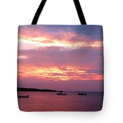 Sun Rays Through The Clouds Tote Bag