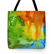 Sun Reflected In The Waterfall Tote Bag