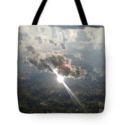 Sun Reflected On The Sea Tote Bag