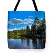 Sun Reflecting On The Moose River Tote Bag