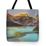 Sun Ricing On Rockies Tote Bag