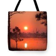 Sun Rise At Red Lake Grayton Beach State Park Florida Tote Bag