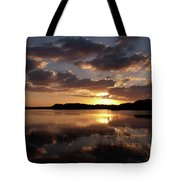Sun Rise At West Lake In The Everglades Tote Bag