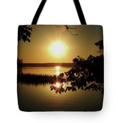 Sun Rise, Hamlin Lake Photograph Tote Bag