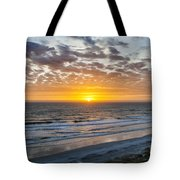 Sun Rising Over Atlantic Tote Bag