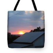Sun Set On Barn  Tote Bag