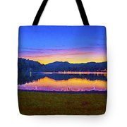 Sun Set On Lake Lure Tote Bag