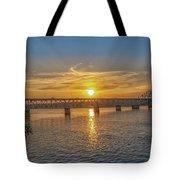 Sun Set Shoals Tote Bag