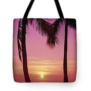 Sun Sets Between Pams Tote Bag