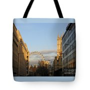 Sun Sets On London Tote Bag