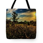 Sun Setting At Valley Forge Tote Bag