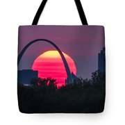 Sun Setting Behind The Arch Tote Bag