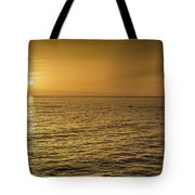 Sun Setting In Barbados Tote Bag
