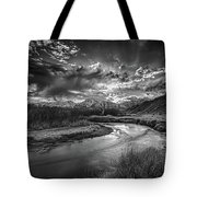 Sun Setting On The Owens River Tote Bag