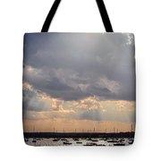Sun Shines On The Harbor  Tote Bag