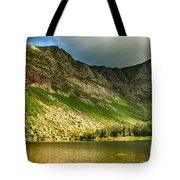 Sun Shining On Chimney Pond  Tote Bag