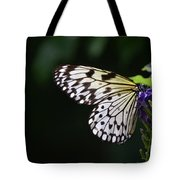 Sun Shining Through The Wings Of A Rice Paper Butterfly Tote Bag