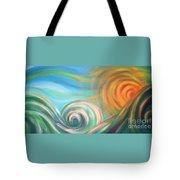 Sun Surf Sky Tote Bag