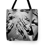 Sun Tanning At The Deligny Swimming Pool, Paris, June, 1963 Tote Bag