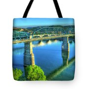 Sun Up Reflections Chattanooga Tennessee Tote Bag