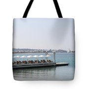 Sunbathing In A Row Tote Bag