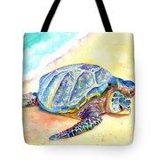 Sunbathing Turtle Tote Bag