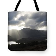 Sunbeams In Glen Affric Tote Bag