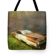 Sunbeams On A Classic Cadillac Tote Bag