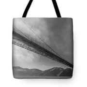 Sunbeams Through The Golden Gate Black And White Tote Bag