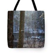 Sunbreak On A Snowy Day Tote Bag