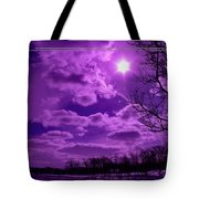 Sunburst In Violet Tote Bag