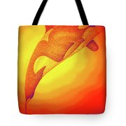 Sunburst Orca Tote Bag