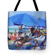 Sunday Beach Blues Tote Bag