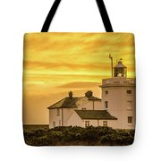 Sundown At The Lighthouse Tote Bag