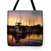 Sundown At The Marina 2 Tote Bag