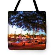 Sundown At The Marina Tote Bag