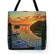 Sundown By H H Photography Of Florida Tote Bag