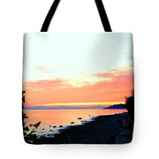 Sundown From West Vancouver Tote Bag