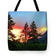 Sundown In Yellowstone Tote Bag