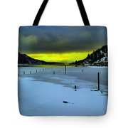 Sundown On Lake Shore Tote Bag