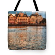 Sundown On The Boardwalk Walt Disney World Tote Bag