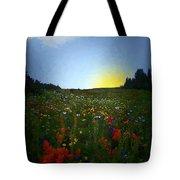 Sundown Wildflower Meadow Tote Bag