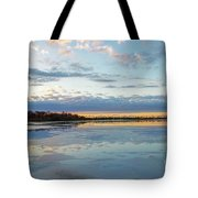 Sundown With Water On Ice Tote Bag