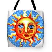 Sunface With Ladybug Tote Bag