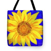 Sunflower, Acrylic Painting Tote Bag