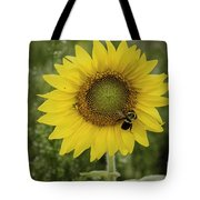 Sunflower Among The Weeds Tote Bag