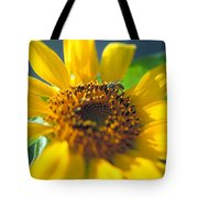 Sunflower And Bee Number Two Tote Bag