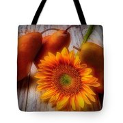 Sunflower And Pears Tote Bag
